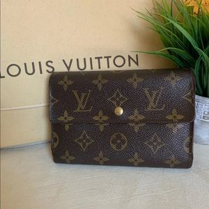 Authentic Louis Vuitton Porte Tressor Etui Wallet